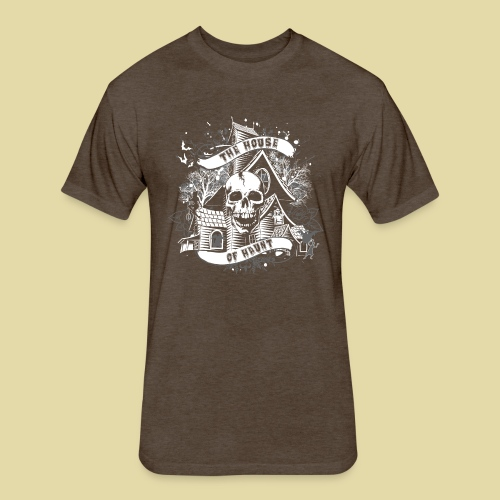 hoh_tshirt_skullhouse - Fitted Cotton/Poly T-Shirt by Next Level