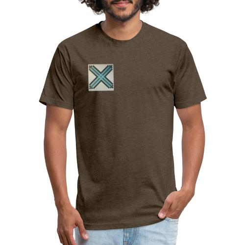Blue XaRo - Fitted Cotton/Poly T-Shirt by Next Level