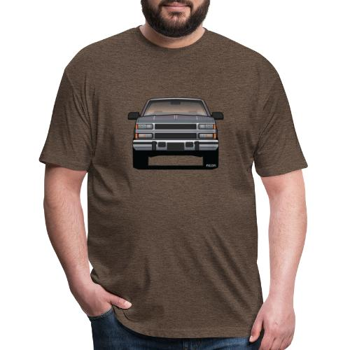 Design Icon: American Bowtie Silver Urban Truck - Fitted Cotton/Poly T-Shirt by Next Level