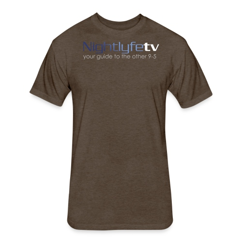 NTV Logo Full - Fitted Cotton/Poly T-Shirt by Next Level
