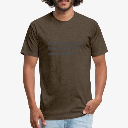 Art of the mappable! - Fitted Cotton/Poly T-Shirt by Next Level