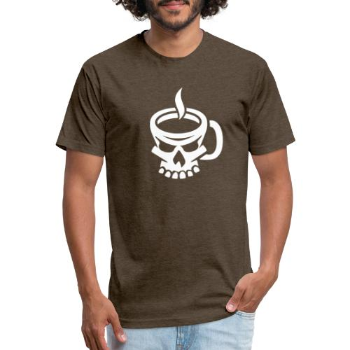 Caffeinated Coffee Skull - Fitted Cotton/Poly T-Shirt by Next Level