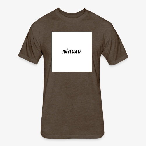 NuWAV Logo - Fitted Cotton/Poly T-Shirt by Next Level
