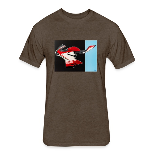 Naked Ducati - Fitted Cotton/Poly T-Shirt by Next Level