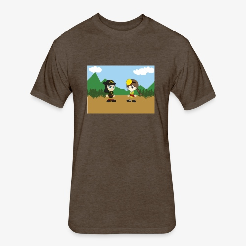 Digital Pontians - Fitted Cotton/Poly T-Shirt by Next Level
