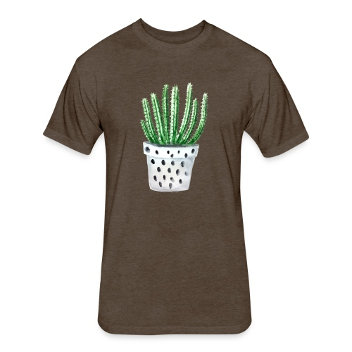 Cactus - Fitted Cotton/Poly T-Shirt by Next Level