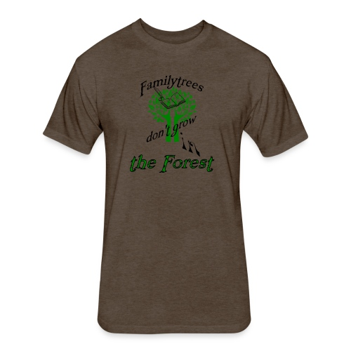 genealogy family tree forest funny birthday gift - Fitted Cotton/Poly T-Shirt by Next Level