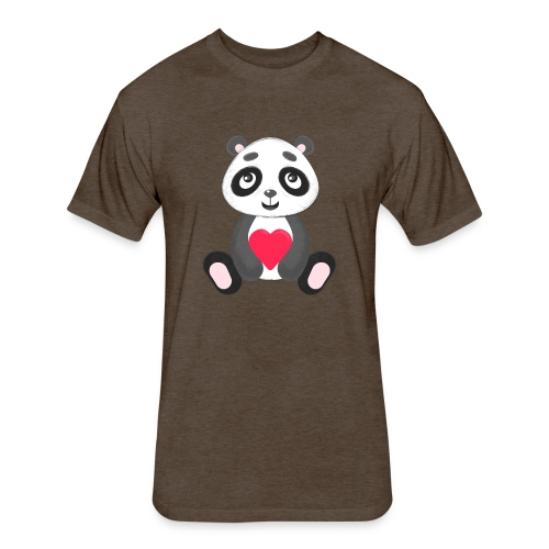 Sweetheart Panda - Fitted Cotton/Poly T-Shirt by Next Level