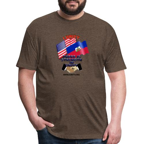 The Flag of Haiti E03 - Fitted Cotton/Poly T-Shirt by Next Level