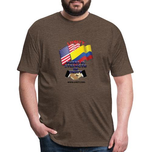 COLUMBIAN USA E02 - Fitted Cotton/Poly T-Shirt by Next Level