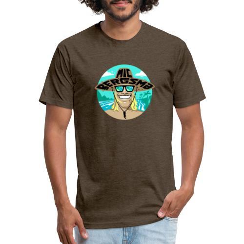 MicBergsma island life logo - Fitted Cotton/Poly T-Shirt by Next Level