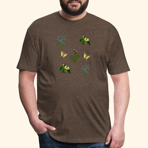 vintage bloom Botanical Design - Fitted Cotton/Poly T-Shirt by Next Level