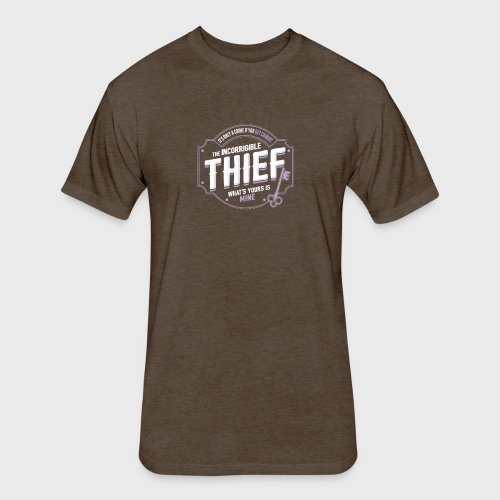 Thief Class Fantasy RPG Gaming - Fitted Cotton/Poly T-Shirt by Next Level