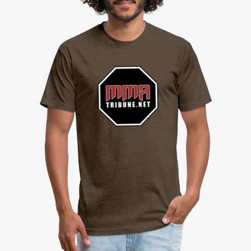 MMATribune.net Octagon logo - Fitted Cotton/Poly T-Shirt by Next Level
