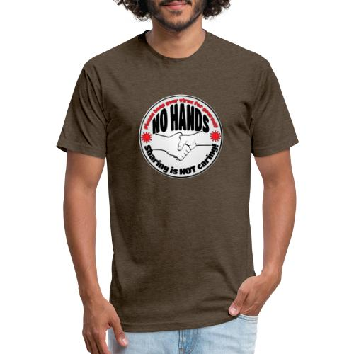 Virus - Sharing is NOT caring! - Fitted Cotton/Poly T-Shirt by Next Level