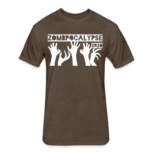 Zombpocalypse 2020 - Fitted Cotton/Poly T-Shirt by Next Level