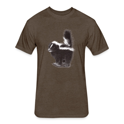 Cool cute funny Skunk - Fitted Cotton/Poly T-Shirt by Next Level