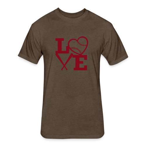 Love baseball - Fitted Cotton/Poly T-Shirt by Next Level