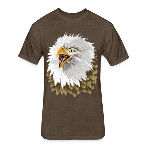 Big, Bold Eagle - Fitted Cotton/Poly T-Shirt by Next Level