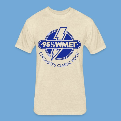 WMET logo (variable color) - Fitted Cotton/Poly T-Shirt by Next Level