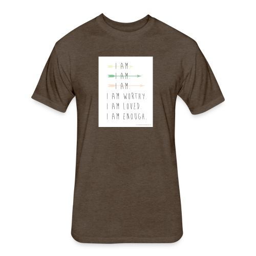 enough - Fitted Cotton/Poly T-Shirt by Next Level