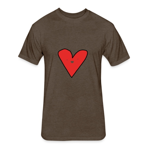 Heart - Fitted Cotton/Poly T-Shirt by Next Level