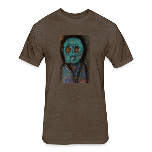 The galactic space monkey - Fitted Cotton/Poly T-Shirt by Next Level