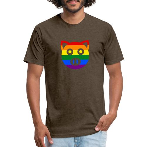PIGGY PRIDE - No.001 - Fitted Cotton/Poly T-Shirt by Next Level