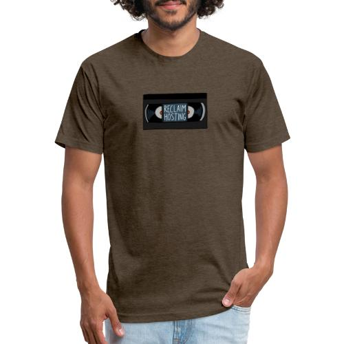 Reclaim Hosting VHS - Fitted Cotton/Poly T-Shirt by Next Level