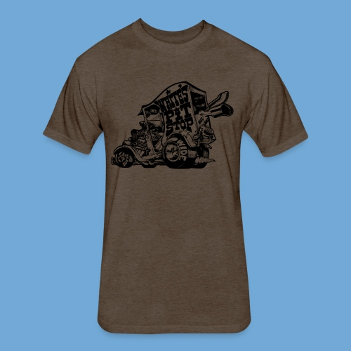 White's Pit Stop - Black - Fitted Cotton/Poly T-Shirt by Next Level