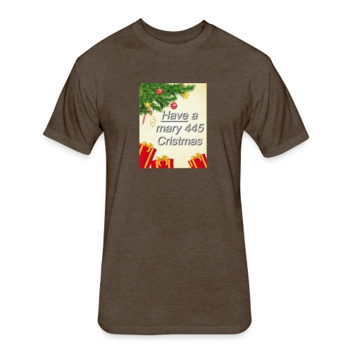 Have a Mary 445 Christmas - Fitted Cotton/Poly T-Shirt by Next Level