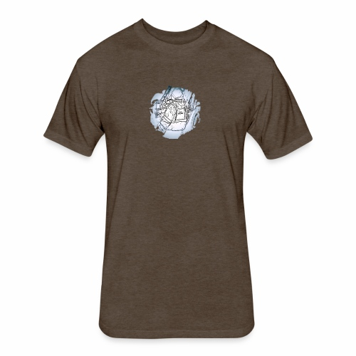 Garbage Truck Work - Fitted Cotton/Poly T-Shirt by Next Level