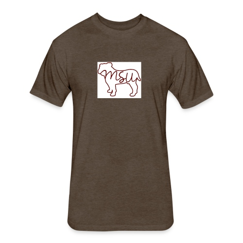 910a07ce5e52d5ad77965d0683b10d53 mississippi state - Fitted Cotton/Poly T-Shirt by Next Level