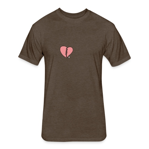 Heartbreak - Fitted Cotton/Poly T-Shirt by Next Level