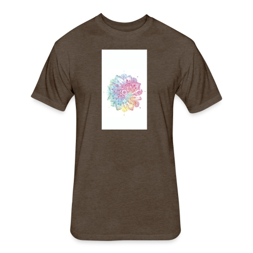 Flower - Fitted Cotton/Poly T-Shirt by Next Level