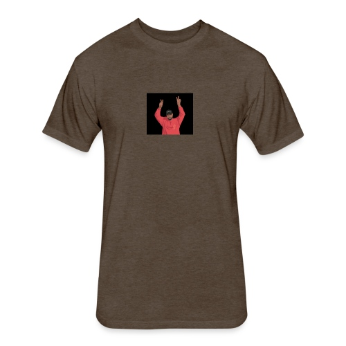 yeezus - Fitted Cotton/Poly T-Shirt by Next Level