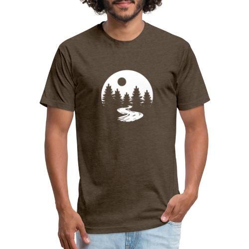 """"""" The Moon """" - Fitted Cotton/Poly T-Shirt by Next Level"""