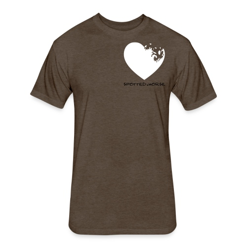 Appaloosa Heart - Fitted Cotton/Poly T-Shirt by Next Level