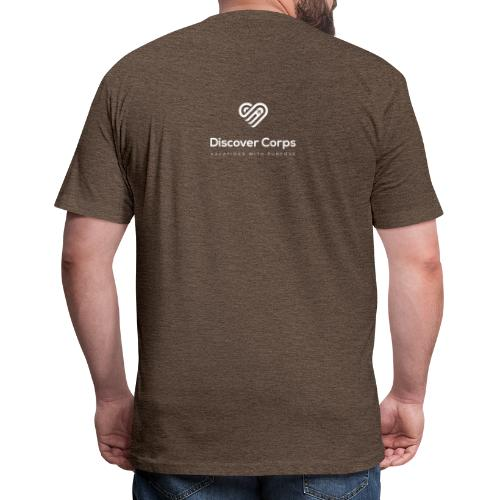 DiscoverCorp Logo Vertical Rev High - Fitted Cotton/Poly T-Shirt by Next Level