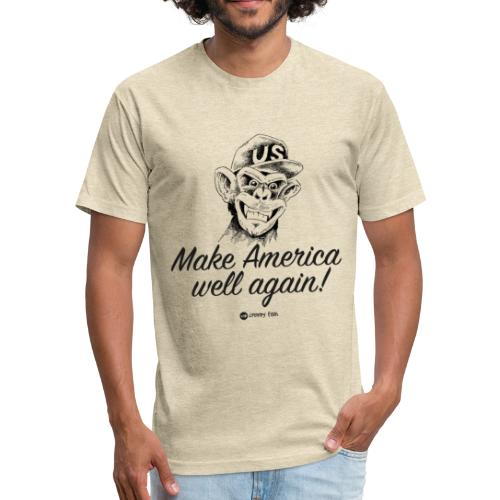 Make America well again - funny monkey design - Fitted Cotton/Poly T-Shirt by Next Level
