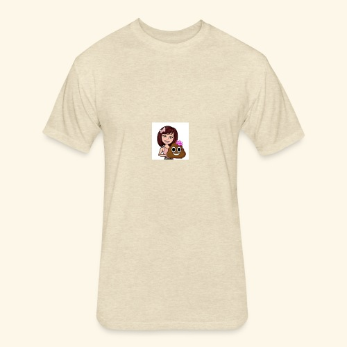 Poop N Smiles - Fitted Cotton/Poly T-Shirt by Next Level
