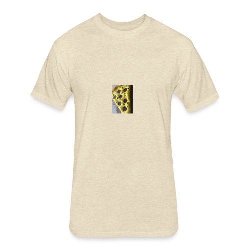 Pizza 2 - Fitted Cotton/Poly T-Shirt by Next Level