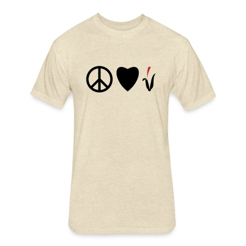 Peace Love Cornfields - Fitted Cotton/Poly T-Shirt by Next Level