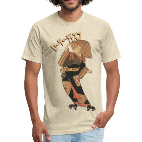 roller disco - Fitted Cotton/Poly T-Shirt by Next Level