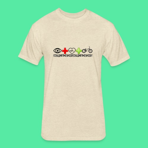 I love bikes - Fitted Cotton/Poly T-Shirt by Next Level
