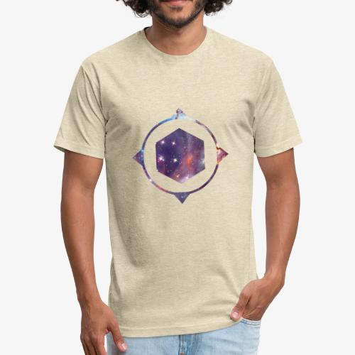 polygon space - Fitted Cotton/Poly T-Shirt by Next Level