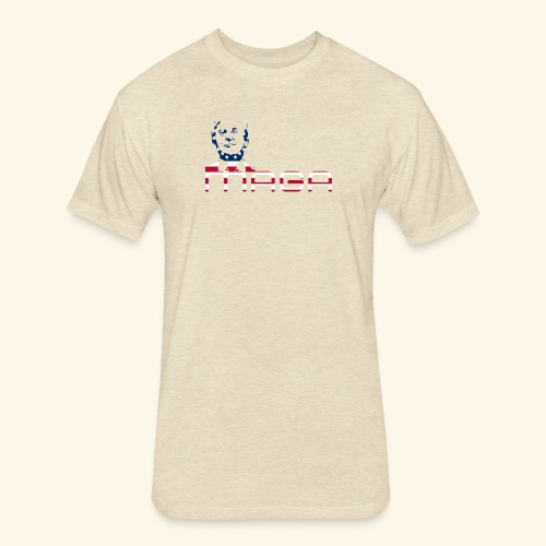 MAGA 3 (MakeAmericaGreatAgain) - Fitted Cotton/Poly T-Shirt by Next Level
