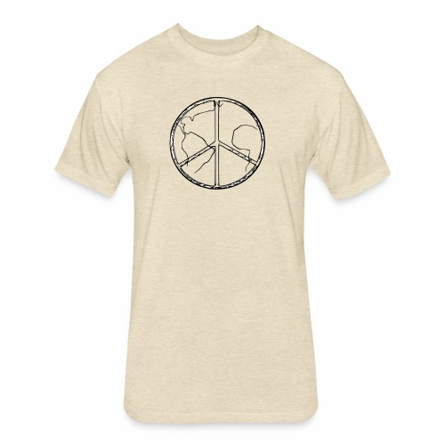 World Peace - Fitted Cotton/Poly T-Shirt by Next Level