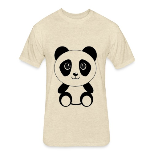 PANDA GENTIL - Fitted Cotton/Poly T-Shirt by Next Level