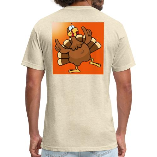Turkey - Fitted Cotton/Poly T-Shirt by Next Level